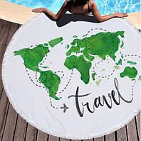 Пляжный коврик Карта ( 150 см)