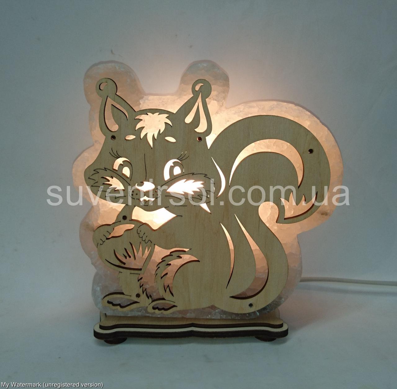 Соляная лампа Белка большая