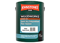 Акриловый лак для пола Johnstone`s Quick Dry Polyurethane Floor Varnish Clear Satin (Полумат) 2.5л