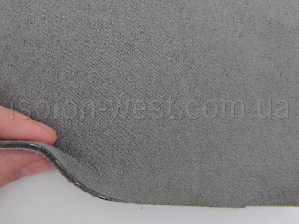Ткань Antara (аналог Алькантары), цвет серый, на поролоне и сетке