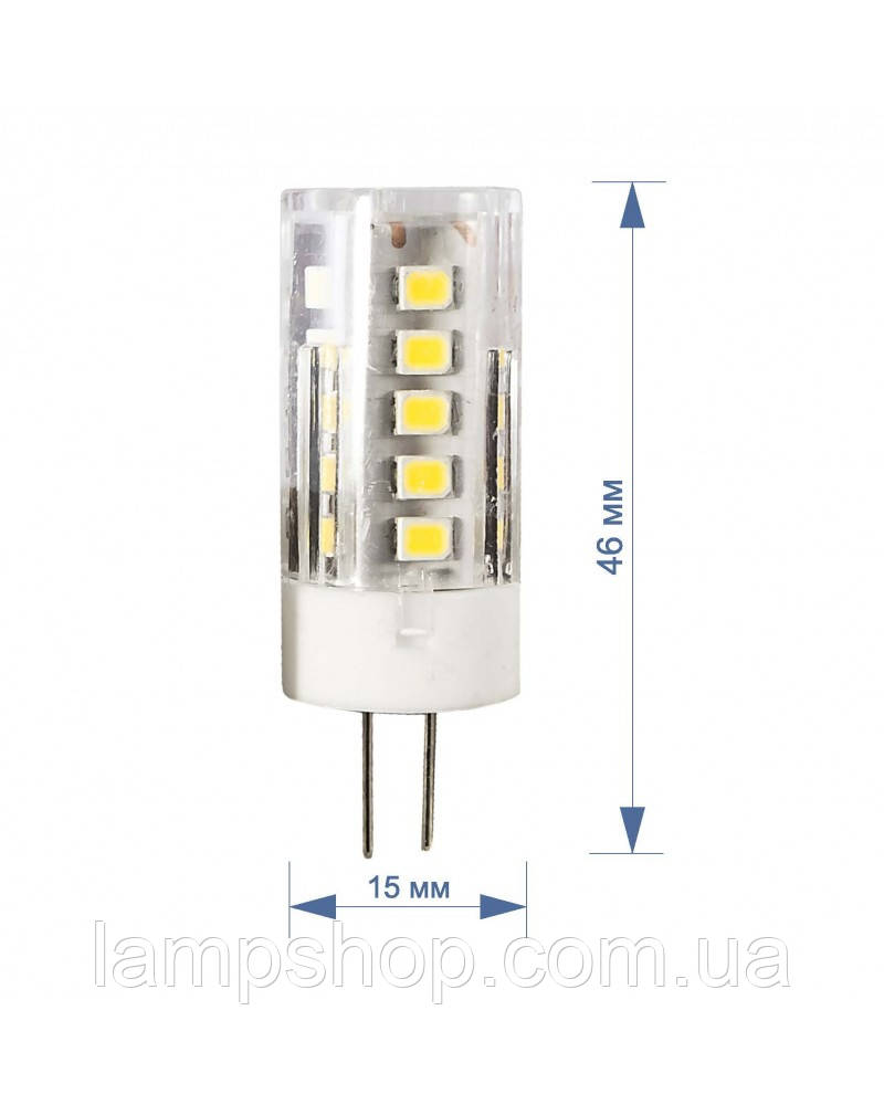 Лампа RIGHT HAUSEN LED Standard капсульная 3,5W 220V G4 6000K керам/пласт HN-157042