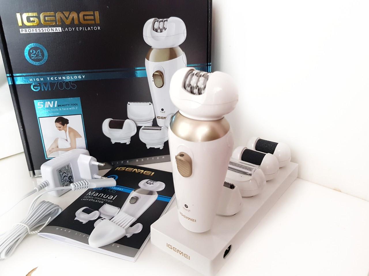 Эпилятор с насадками (5 в 1) Gemei GM-7005
