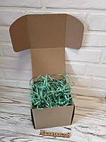 Коробка 150*150*140 мм крафт для подарка с мятным наполнителем , для сувенира, для мыла, косметики, фото 1