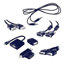 Кабели видео и аудио, конвертеры, адаптеры