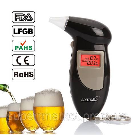 Цифровой алкотестер, ALCOHOL TESTER PFT-68s, фото 2