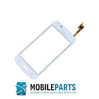 Сенсор (Тачскрин) для Samsung G350 | G3500 | G3502 | G3508 С фронтальной камерой (Белый) Оригинал