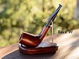 Деревянная трубка для курения табака прямая KAF230 не под фильтр, фото 10