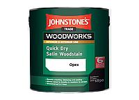 Лессирующий антисептик Johnstones Quick Dry Satin Woodstain (Орех) 0.75л