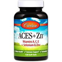 Витамины А, С, Е, селен и цинк, Carlson Labs, Vitamins ACES + Selenium, Zinc, 120 капсул