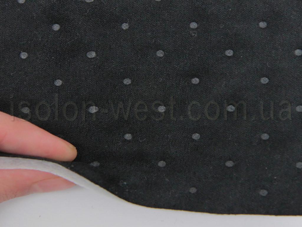 Ткань Antara (аналог Алькантары), цвет черный, псевдо перфорированная, на синтепоне