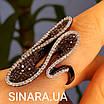 Эксклюзивное серебряное кольцо - Коктейльное кольцо с коньячными фианитами - Брендовое серебряное кольцо, фото 2