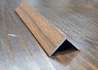 Уголок алюминиевый 15х15х1,5, светлый орех, фото 1