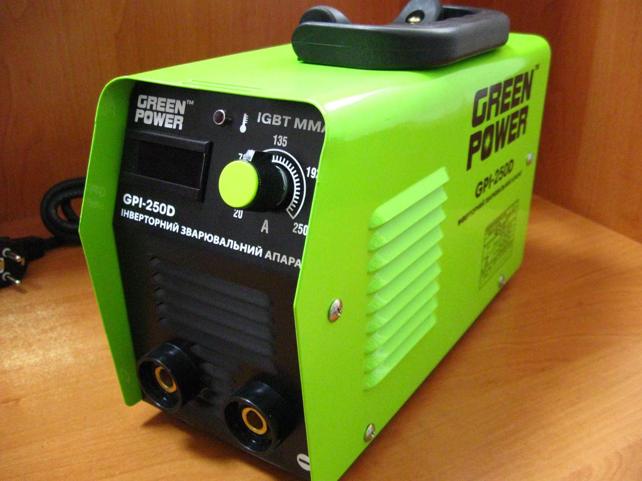 Інверторний зварювальний апарат Green Power GPI-250D