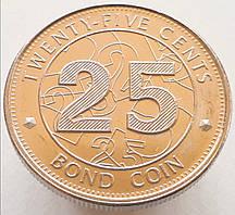 Зимбабве 25 центов 2014
