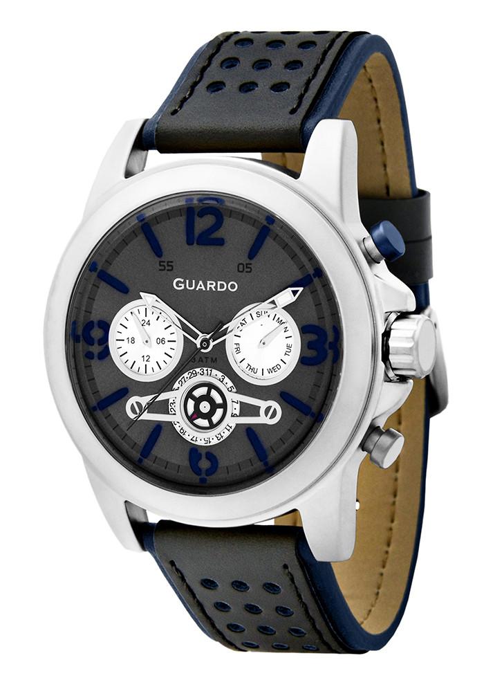 Часы мужские Guardo 11177-2 черно-серебряные