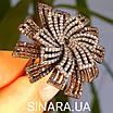 """Брендовое серебряное кольцо - Роскошное кольцо из серебра """"Вечерняя Примула"""", фото 8"""