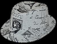 Шляпа детская челентанка комби Франция серая