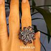 """Брендовое серебряное кольцо - Роскошное кольцо из серебра """"Вечерняя Примула"""", фото 7"""