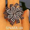 """Брендовое серебряное кольцо - Роскошное кольцо из серебра """"Вечерняя Примула"""", фото 6"""