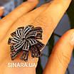 """Брендовое серебряное кольцо - Роскошное кольцо из серебра """"Вечерняя Примула"""", фото 5"""