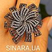 """Брендовое серебряное кольцо - Роскошное кольцо из серебра """"Вечерняя Примула"""", фото 4"""