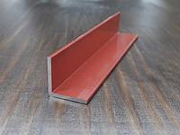 Уголок алюминиевый 15х15х1,5, коричневый, фото 1