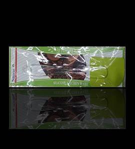 Лопатка силиконовая кухонная прозрачная с пластиковой ручкой