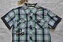 Летняя рубашка для мальчика в клетку зеленая (Glo-Story, Венгрия), фото 2