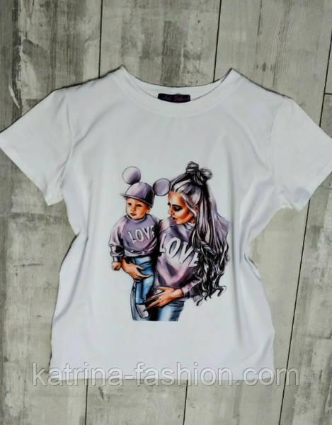 3d1cd8898e15b Женская белая футболка с яркими принтами (разные картинки): продажа ...