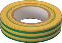 ПВХ изолента  Жёлто-зелёная  0.15мм х 18 мм х 21м