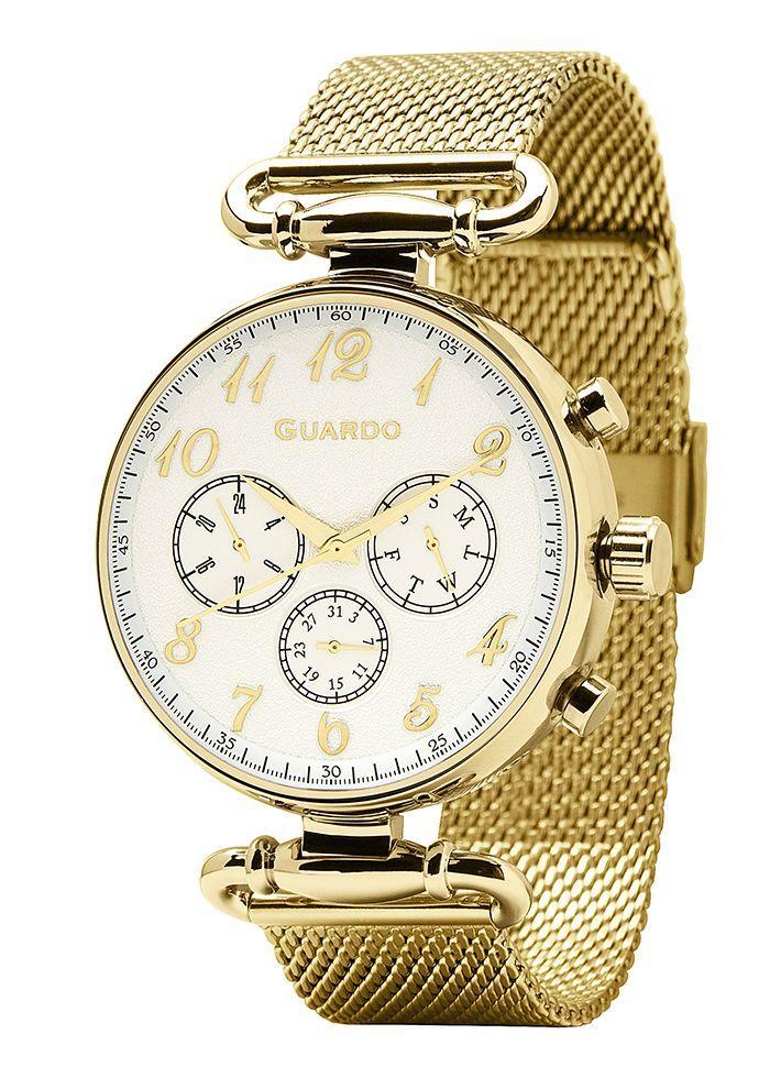Годинники жіночі Guardo 11221-4 золоті