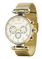 Часы женские Guardo 11221-4 золотые
