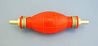 Насос груша полиуретановая для ручной подкачки топлива вход прямой 8 мм / выход прямой 8 мм