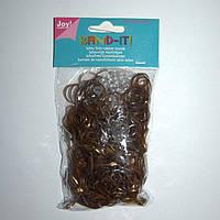 Набор резиночек для плетения Rainbow Loom 600шт. (коричневый)