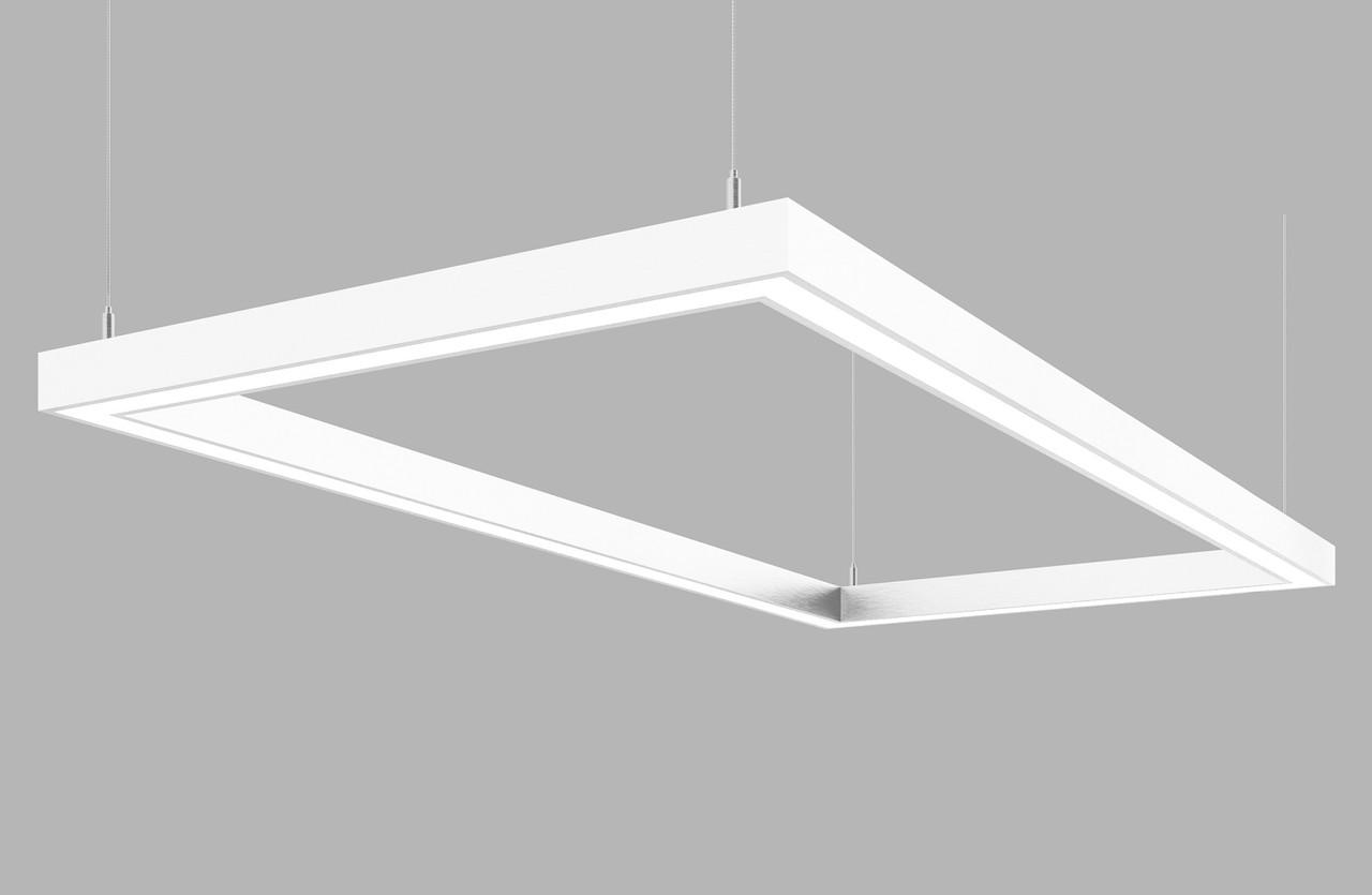 Линейный светодиодный светильник Z-LED 180 Вт прямоугольник белый (1240*640), фото 1