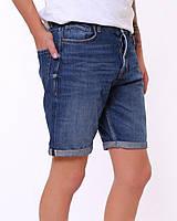 Мужские джинсовые шорты синие 4035, фото 1