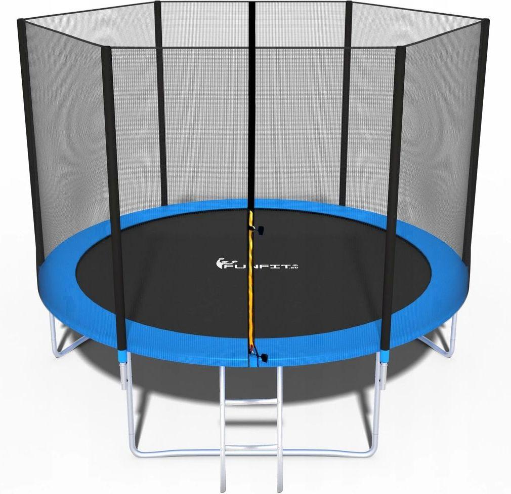 Батут FunFit 312 см для детей и взрослых с защитной сеткой и лестницей