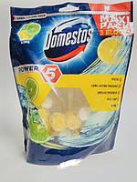 Сменный туалетный блок для унитаза Domestos Power 5  Свежесть Лайма  Упаковка 5 х 55 г