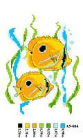 "Набор для вышивки нитками ""Рыбки"". А5-084"