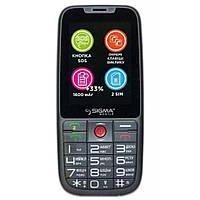 Телефон кнопочный с большим экраном бабушкофон Sigma Comfort 50 Elegance 3 серый, фото 1
