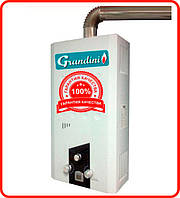 Газовая колонка Grandini JSQ24 полу турбо с трубой