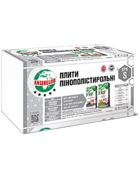 Пенопласт EPS-S Anserglob  4 см (1 х 1 м)
