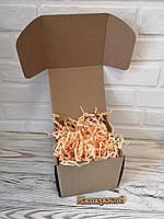 Коробка 150*150*140 мм крафт для подарка с персиковым наполнителем , для сувенира, для мыла, косметики, фото 1