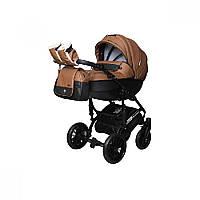 Детская универсальная коляска 2 в 1 Angelina Phaeton black star Comfort (1241010046-коричневая)