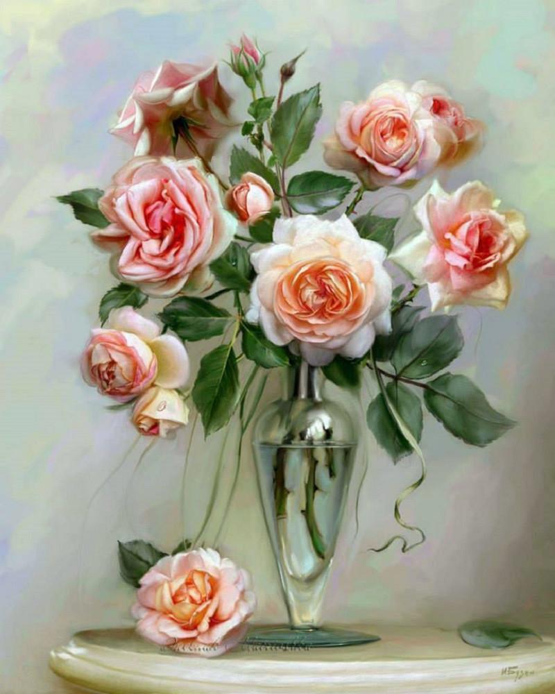 Картина по номерам - Трепетні троянди