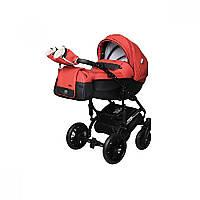 Детская универсальная коляска 2 в 1 Angelina Phaeton black star Comfort (1241010046-красная)