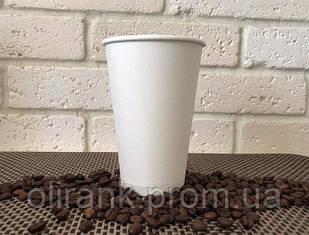 Стаканы бумажные 500 мл50шт/уп белый СП  (20уп/ящ) (кр-88)