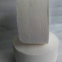 Туалетная бумага Джамбо 120м, двухслойная белая