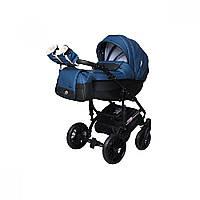 Детская универсальная коляска 2 в 1 Angelina Phaeton black star Comfort (1241010046-синяя)