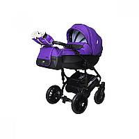 Детская универсальная коляска 2 в 1 Angelina Phaeton black star Comfort (1241010046-фиолетовая)